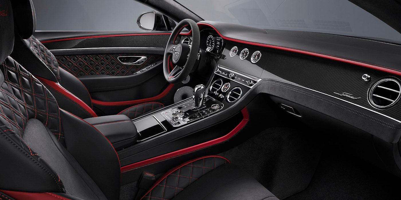 <new-bentley-continental-gt-speed-front-interior-beluga-black-and-hotspur-red-leather>